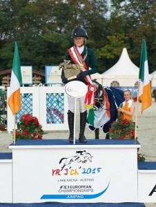 """Gold for Ireland with Jennifer Kuehnle Silver for Germany with Calvin Bockmann Bronze for Germany with Piet Menke. Pic HERVE BONNAUD                  """""""