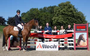 Launching the GAIN/Alltech Autumn League. With Eddie Moloney and Cruicerath Flexianna at Warrington Top Flight Equestrian Centre, Kilkenny for the launch of the GAIN/Alltech Autumn League. From left: Joanne Hurley, GAIN Horse Feeds; Robert Wallace, Showjumping Ireland; Holly Geraghty, Alltech; Ciara Watt, GAIN Horse Feeds and Michael Phillips, GAIN Horse Feeds. Picture: Alf Harvey/HRPhoto.ie No reproduction fee