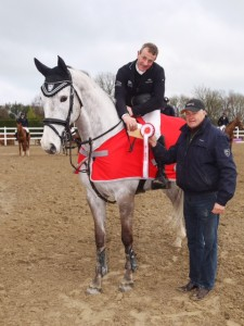 john Floody and mise le meas winners of the spring tour gp at barnadown 3-4-16 with maurice cousins photo by Laurence dunne Jumpinaction.net