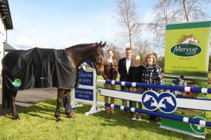 Hilda Keane, ,William Twomey Commercial Director of Mervue Equine,jenny kuehnle and maureen bagnal at the launch of the leinster summer tour 12-4-16 photo by Laurence dunne Jumpinaction.net