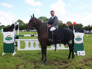 winner of the leinster summer tour at ballivor horse show sean kavanagh 12-6-16 photo by Laurence dunne Jumpinaction.net
