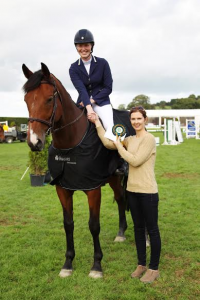 Deirdre Doyle presented with Ian Fearon Bursary for winning Pro Am section of Mervue Equine LST