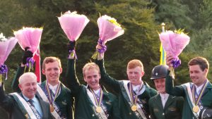 European youn riders after being presented with their medals